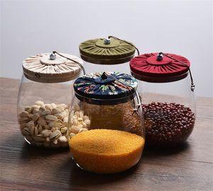 1000ML de stockage des aliments en verre Jar Bouteilles de cuisine hermétiquement fermé, récipient avec couvercle en verre de grande capacité Jars