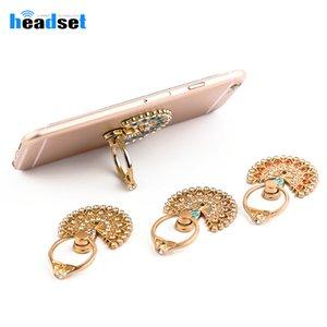 Peacock metal Móvel Suporte Phone Holder dedo anelar Móvel Inteligente Suporte Phone Holder iPhone para Diamond samsung Xiaomi todos telefone