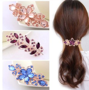 Free Ship 10 Different Designs 9*3cm Hairpin Hair Accessories Hair Clips Pearl Rhinestone Crystal High Quality Girl friend Gift