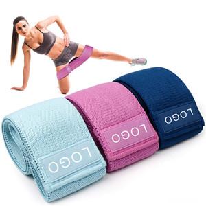 3pcs / set nuevo de ejercicio físico gimnasia tela elástica de poliéster Hip botín Círculo banda de resistencia a llover entrenamiento Yoga banda elástica