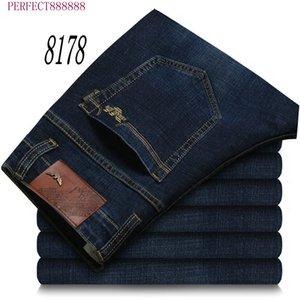 8178 FJSL SFS AJ-JEANS Primavera Outono Calças exteriores grossas calças calças jeans stretch calças de algodão casuais negócios folgas