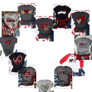 2020 Neueste Valentinstag Herz-Auto-Kaktus T-Shirt Frauen-beiläufige Baumwolle Kurzarmhemd Mädchen O-Ansatz Mann-Kurzschluss T-Shirt Valentine Kleiden