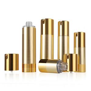 15мл 30мл 50мл Золото / серебро Пустая косметическая безвоздушная бутылка Портативный многоразовый насос Диспенсер Бутылки для путешествий