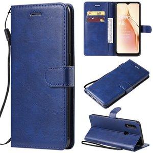 Для OPPO F11 / F11 Pro Case откидной крышки бумажника Стенд чистого цвета PU кожа телефон мешки Кока Для OPPO A8 / A31 / A31 2020