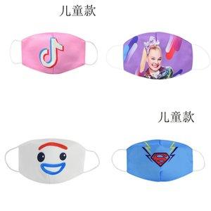 tissu Facemasks masques pour enfants masque enfants jeunes dessin animé masque visage bouche coton masques pour enfants bomull Rousky IitnF