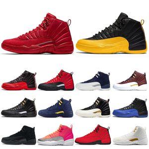 Air jordan retro 12 Immagini X 12 12s mens scarpe da basket REVERSE INFLUENZA gioco della palla FIBA scure concordia TAXI  Mens addestratori di sport delle scarpe da tennis 7-13