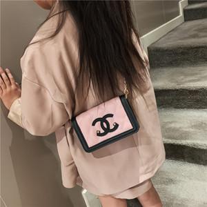 única bolsa de ombro bonito pequena estilo quadrado saco de mini-cross-corpo de saco infantil para meninas 7 cores