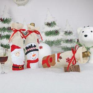 New Christmas Supplies Christmas Decorations Santa Claus Snowman Elk Wine Bottle Cover Christmas Home Decorations