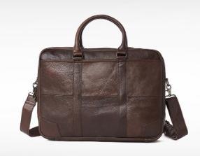 New couro genuíno Homens Pasta computador portátil Bolsa de Negócios Moda Messenger Bag Ombro Negócios Casual