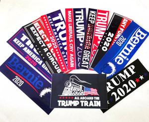 Donald Trump 2020 pegatina Publicidad etiqueta engomada del coche de la manera cartel Cuatro exquisitos etiquetas engomadas 10pcs Hogar Jardín MMA2182