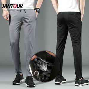 Jantour Marken-Qualitäts-dünne Metallgewebe Hosen Herren Frühling Sommer Art und Weise Sport Slim Fit Casual Male Jogginghose Herren