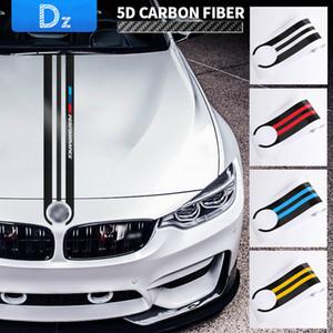 Car Styling Autocollants voiture en fibre de carbone de capot autocollant Stickers M Performance Décor pour BMW E90 E46 E39 E60 F30 F10 F15 E53 X5 X6 Accessoires