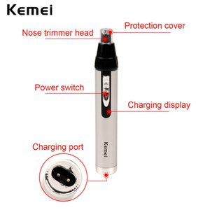 Kemei 6651 Mini Nose Hair Trimmer High Quality Nasal Wool Implement meilleur tondeuse barbe et nez Clipper Eyebrow Trimmer QhVrf