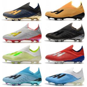 2020 nuevos zapatos de 19,1 X FG para hombre de fútbol con los cordones de los zapatos Tacos baratos chaussures crampones de botas de fútbol x19 + alta calidad scarpe da Calcio
