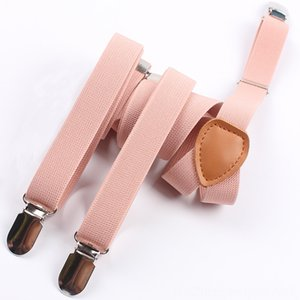 115cm Suspenders Belts & Accessories fashion Womens suspenders 20cm width 3 Clips and Female Adjustable Elastic Braces Suspender light pink