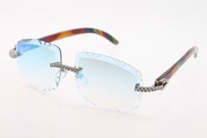 Großhandel Big Stone Sonnenbrille Stil Outdoor-Design klassisches Modell Peacock Holz Sonnenbrille 3524012-B-Qualitäts-Glas-heiße Unisex