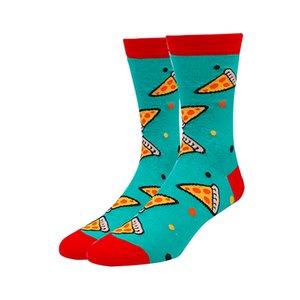 VPM coloré coton chaussettes pour hommes nourriture drôle Pineapple Pizza Hamburger bière Chili skate Harajuku Happy Socks pour le cadeau de Noël