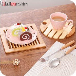 BalleenShiny al por mayor del estilo de Japón termoaislante Placemat de bambú Tabla estera del cojín de la decoración del hogar Accesorios