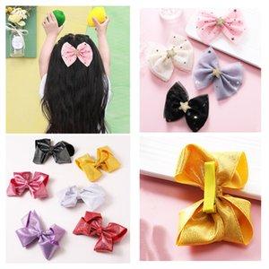 10pcs / lot neue Kinder Art und Weise vorzüglicher Garn Bogen Haarnadel Netter Sequin Pentagram Duckbill-Klipp für Mädchen Prinzessin Haarschmuck