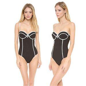 Sexy Mulheres One Piece Monokini Swimwear biquíni Swimsuit Beachwear Preto Vintage biquíni Beachwear das senhoras Biquni