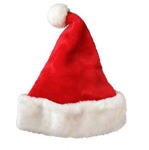 Cosplay de Noël Hat 28 * 40cm rouge du Père Noël Xmas Party doux en peluche chapeaux pour adultes Décoration de Noël OOA7272-2