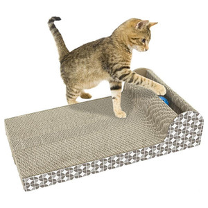 Cat Scratcher Cat Scratch Paper Board Corrugated Cat Toy Pet Griffe Kitten escalade Griffe Pet Toy Catch Interactive Training Toy