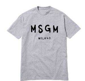 Designer Casual camisetas Hop algodão MSGM T- Shirts Moda Black White Men Verão High Street Hip Tees