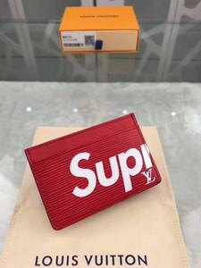 billetera de cuero de lujo de los hombres calientes Monedero corto fruncen MT titular de la tarjeta caja de regalo billetera paquete de envío libre buen precio