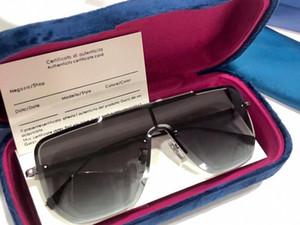 1063 Art und Weise neue Designer-Sonnenbrillen Retro Halbrahmen Sonnenbrille Weinlese-Punkart Eyewear hochwertiger UV400 Schutz, kommt mit Kasten 1063S