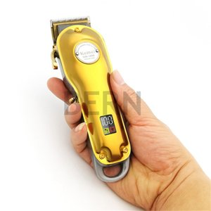 DHL Kemei Tümü metal Tasarımcı Barber Saç Kesme Elektrikli Şarjlı LCD Profesyonel Saç Kesme Altın Gümüş Saç Makine-1986 KM Kesme