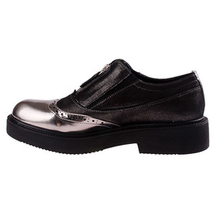 ck John May Mulher Oxford Shoes Este-66428-01 couro