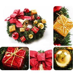 Yeni Noel Çelenk Yapay Yeşillik Ladin Çelenkler Dekoratif Çelenk Noel Top Hediye Kutusu