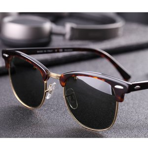 Real Glass lens UV400 men women Sunglasses 3016 retro driving Sun glasses Luxury desig Brand Rivet Design Goggles Elegant Female Y200619