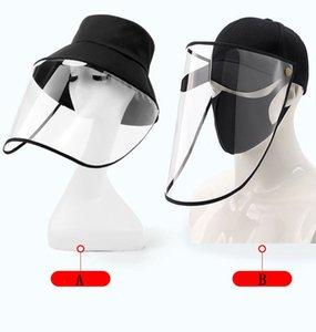 Kepçe Hat Yüz Kalkanı Ayarlanabilir Tam Yüz Kapak İzolasyon Koruyucu Beyzbol şapkası Önlemek damlacıkları Koruyucu Ürün DHA6 Maske