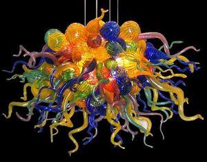 Increíble estilo Art Deco caliente pendiente ligera Venta Colorido vidrio soplado contemporáneo Lámparas Venta (LR029)