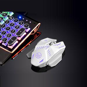 Novo bluetooth + 2.4G Sem Fio modo Dual mouse 1600 dpi cabo USB gaming mouse recarregável com Luz LED ACIMA para LOL CF Mice laptops PC do escritório