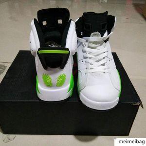 New 6 Pe Oregon Ducks Wings O Man Basketball Shoes Jumpducks 6s Apple Green White Player Exclusive Custom Sneakers Sport Shoe