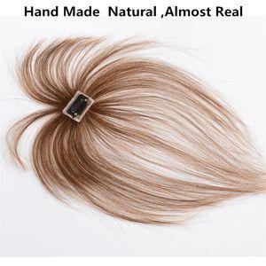 Extensiones de cabello Piezas Bangs mucho más natural humano real rápido envío hecha a mano Aire 3D Blunt Bangs Humano