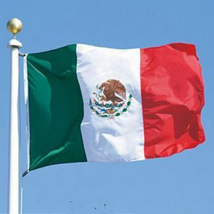 Mexico Banner 3ft x 5ft Hanging Flag Polyester Mexican National Flag Banner Outdoor Indoor 150x90cm for Celebration