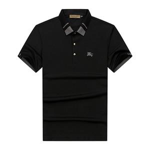 Novas 2020 camisas pólo de camisas pólo casuais designer italiano dos homens da moda decalques bordados camisas polo dos homens negros M-3XL # 0224