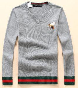 Высокое качество Роскошные новые стили Zip кардиган мужские свитера для мужчин мода с длинным рукавом письмо пара свитеров свободные пуловеры свитера мужские