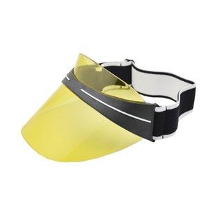 Sunglasses Cap Snapback Summer Women Men Hats UV Protection Sunglasses PC Top Sun Visor Hat Transparent Beach Visor Cap