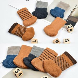 4pcs pata de la silla Calcetines Textiles para el hogar de la pierna protección de pisos antideslizantes Tabla patas de la silla rayada manga de la cubierta del pie de tejer calcetines