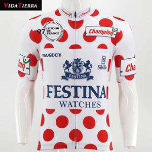 2019 VIDATIERRA MEN 사이클링 저지 화이트 레드 mtb 저지 프로 클래식 수 프로 커스텀 레이싱 팀 maillot ciclismo 행운 COOL Retro honor