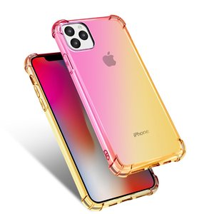 Soft TPU Case For iP 11 Pro Max Gradient Phone Cover For iP 7 8 XR XS Max Beautiful Rainbow Case Coque Shell