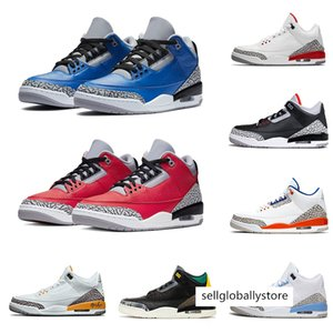 Retro Hommes Chaussures de basket 3 3s Animal Instinct Varsity royal Bulls Rouge Noir Ciment Blanc Knicks Rivals Air pur Sport Baskets Sneakers