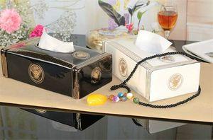 Keramik Papiertuch-Kasten Moderne Vertraglich europäischen Stil Tissue Box, Keramik und Porzellan Wohnzimmer Teetisch Papierkasten