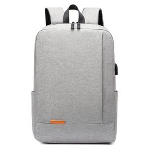 New Backpack Men Simple Bagpack Women USB Charging Mochila Laptop Back Pack Student Schoolbag Travel Zaino Men Rucksack