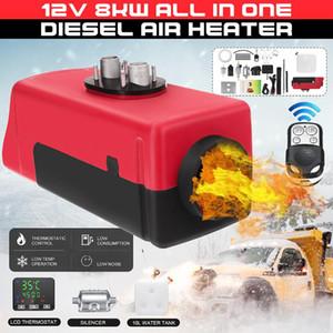 Coche los Diesel Aire Aparcamiento calentador 12V 1-8kw de aire ajustable de los Diesel Fuel calentador LCD remoto del interruptor de control del monitor