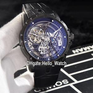 New Excalibur 46 Automatique 10 Tourbillon RDDBEX0508 Mens Watch Skeleton Cadran Pvd en acier noir avec bracelet en cuir Montres Hello_Watch 10 Couleur